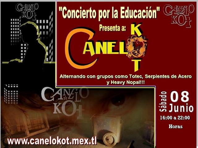 Canelo Kot en el Concierto por la Educación... Zócalo Capitalino 08 de Junio de 2013, 16 a 22 hrs.